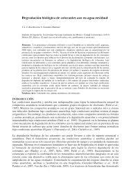 Degradaci N Biol Gica De Colorantes Azo En Agua Residual Review