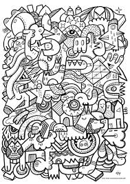 Difficile Doodling Doodle Art 7 Doodles Coloriages Difficiles