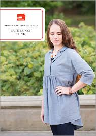 Tunic Sewing Pattern Simple Digital Late Lunch Tunic Sewing Pattern Shop Oliver S