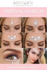 festival makeup tutorials festival makeup white gemstone festival look awesome glitter and rhinestone