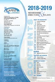 Cappo 2018 Membership Directory Bylaws
