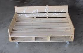 diy pallet dog bed on casters