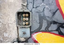 old electrical fuse box stock photos old electrical fuse box old fuse box on abandoned warehouse wall stock image