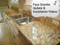 Kitchen Sinks With Granite Countertops Faux Granite Kitchen Counters In Minutes With Ez Instant Makeover