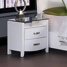 glass top nightstand