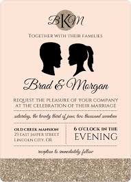 how to word wedding invitations, invitation wording ideas, etiquette Formal Wedding Invitation Wording Date vintage silhouette wedding invitation by weddingpaperie com formal wedding invitation wording samples