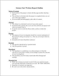 Template For Science Fair Project Example Science Fair Project Research Paper