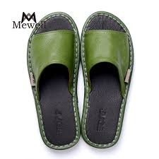 customized logo womens leather bedroom slippers sleeper sandal odm lady and man indoor slipper
