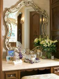 ornate bedroom furniture. Bedroom Furniture Wooden Make Up Table Decor With Ornate Bronze Mirror Frame And White Marble Counter Top Antique Makeup Vanity