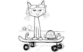 Small Picture To Print Pete The Cat Coloring Page 43 For Coloring Site with Pete