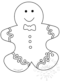 Gingerbread Man Template Gingerbread Man Cutout Template Coloring Page 12