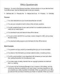 5 Business Questionnaire Examples Samples Examples