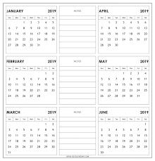 printable 6 month calendar 2019 six month calendar printable 6 template 2019 edunova co