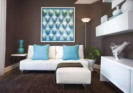 blue and brown living room with white furniture blue room white furniture