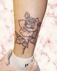 роза на ноге Redinktattoo Pink розовый розовыйфон Tattoo