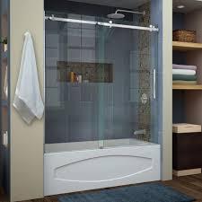 small bathtub glass door