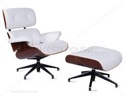 authentic eames lounge chair. The Authentic Eames Lounge Chair In White Leather Plan D