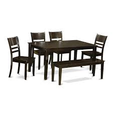 Amazoncom East West Furniture Caly6 Cap W 6 Pc Dining Room Set