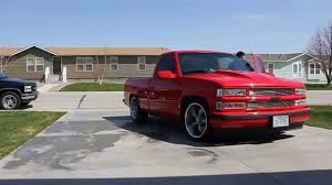 Lowered 1996 chevy c1500 drive by - YouTube