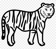 running tiger clipart black and white. Tiger Black And White Free Clip Art Clipart Inside Running