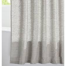 Shower curtains White Rejuvenation Gray Linen Shower Curtain Rejuvenation