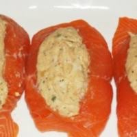 Clearly this stuffed salmon recipe isn't the same old salmon you've been making for years. Fresh Stuffed Salmon From Costco In Austin Tx Burpy Com
