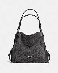 EDIE SHOULDER BAG 31 IN SIGNATURE JACQUARD ...