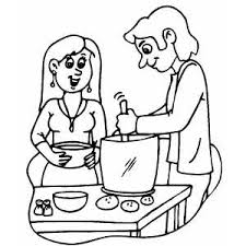 Small Picture Cooking Dinner From Potatos Coloring Page