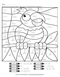 Color By Addition Kindergarten Coloring Math Worksheets Kindergarten ...