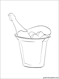 Kleurplaten Champagne Gratis Kleurplaten