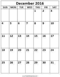 Free Downloadable Printable Calendars December 2016 Calendar