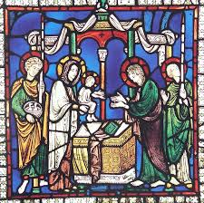 presentation of christ in canterbury cathedral stained glass window n xv