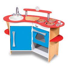 Melissa And Doug Retro Kitchen Melissa Doug Cooks Corner Wooden Kitchen Pretend Playset Toys