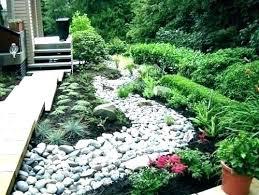 Rock Garden Design Ideas Cool Excellent Rock Flower Beds Ideas Paver Stone Bed Garden River