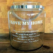 the i love my home nautical rope hurricane lamp clear glass rope handle candle holder for
