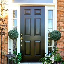 black front door diy beautify uses modern masters front door paint in the color elegant