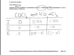 chemical equilibrium problem solving