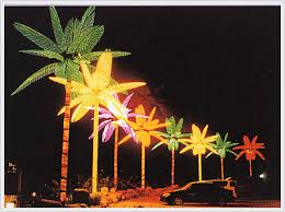 12 2 lighted led palm trees