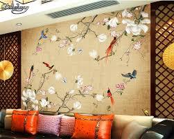 Gratis Bezorging Beibehang Custom 3d Behang Mural Mode Bloem Vogel