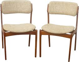 o d mobler set of dining chairs in teak and wool erik buch 1960s design market