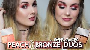i heart makeup peach glow bronze shimmer duos giveaway missbeautyemily