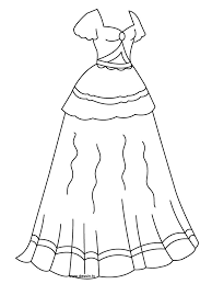 Small Picture Coloring Pages Dresses