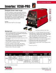 multi process welders wire feeder separately invertec® v350 multi process welders wire feeder separately invertec® v350 pro