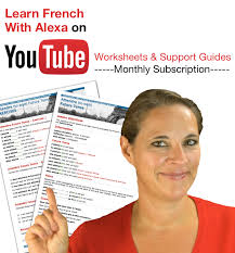 Learn French With Alexa YouTube Video Worksheets & Support Guides