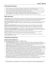 Ideas of Samples Of Professional Summary For A Resume On Cover