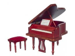 Music Room Furniture Mahogany Baby Grand Piano & Bench
