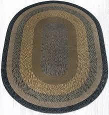 c 099 brown black charcoal oval braided rug 6x9 c 099
