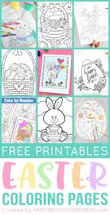 Flowers In Cross Coloring Page 20 Free Printable Easter Coloring