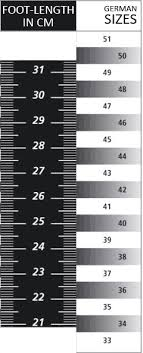 Bauer Skate Size Chart Cm Size Chart For All Ice Hockey Products From Bauer Ice Skates