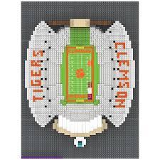 Clemson Tigers Ncaa 3d Brxlz Stadium Memorial Stadium